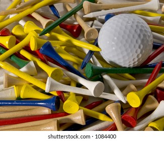 Making the choice of which color of tee to use for golf