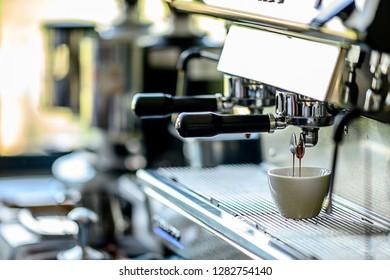 Making Coffee Capuchino