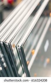 zweischichtige Glasfenster, Nahaufnahme
