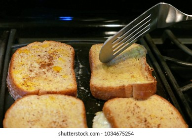 Making French toast