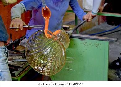 Making glass in Murano Italy