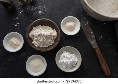 Making gluten free flour blend
