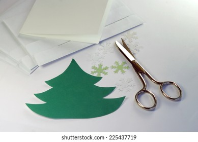 Making greeting cards for Christmas and New Year