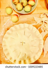 Making a homemade apple pie