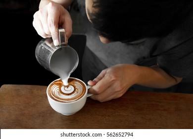 Making latte art