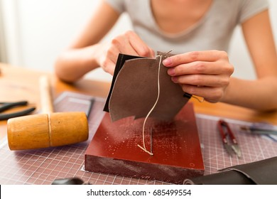 Making leather craft