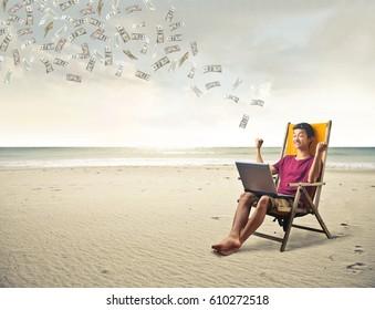 Making money at the beach
