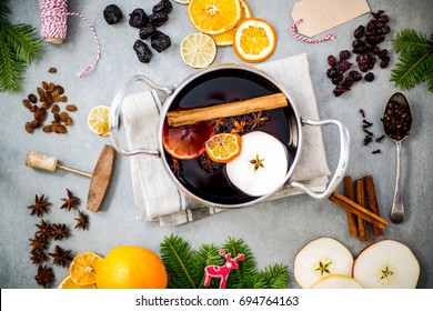 making mulled wine for Christmas and festive period.