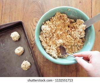 Making Oatmeal Cookies