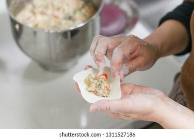 Making pasta dumplings
