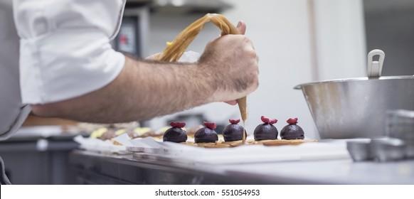 making pastries.