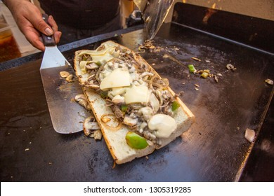 Making a Philly Cheesesteak