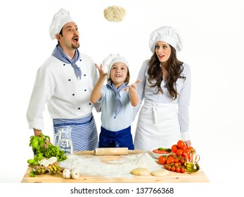 Making pizza with the family