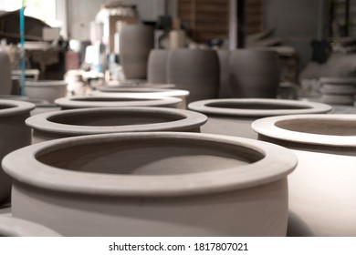 making pottery in a factory