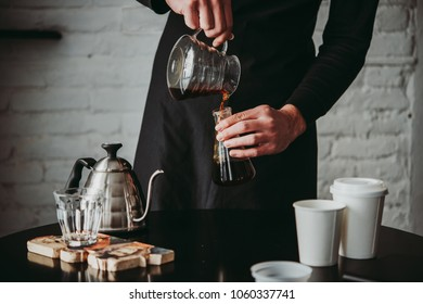 Making pour-over coffee