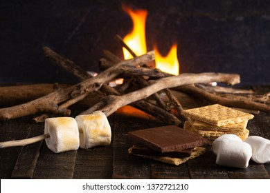 Making Smores on a Campfire