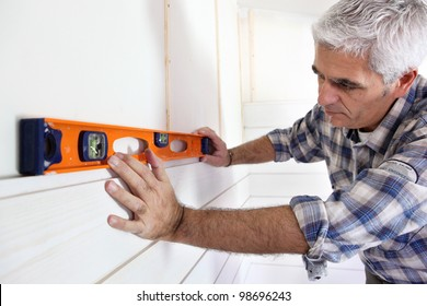Making sure wall is straight