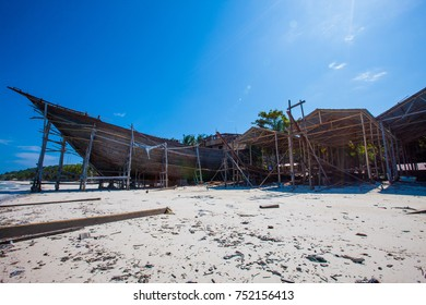 Making of Traditional Ship Phinisi, Ship from South Sulawesi, Indonesia