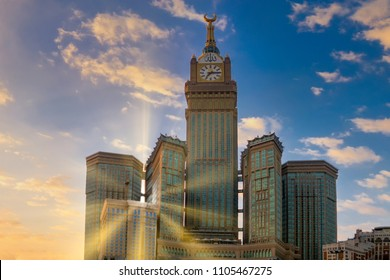 Makkah clock tower during sunrise