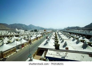 MAKKAH, SAUDI ARABIA - DEC 16, 2017 : Thousand Of Tents To Be Used For Hajj Pilgrimage In Mina