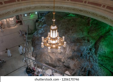 MAKKAH-CIRCA 2016:Safa rock mount on  in Makkah.Here pilgrims perform saei (brisk walking between Safa & Marwah 7 times).The ritual is a reenactment of Abraham's wife, Hajr search for water.