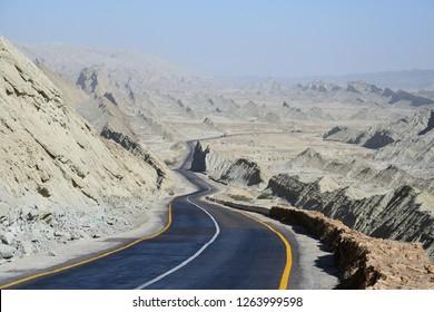The Makran Coastal Highway along Pakistan's Arabian Sea coast from Karachi in Sindh province to Gwadar in Balochistan province