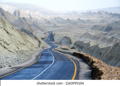 Makran Coastal Highway or National Highway 10 in Pakistan which extends along Pakistan's Arabian Sea coast from Karachi in Sindh province to Gwadar in Balochistan province