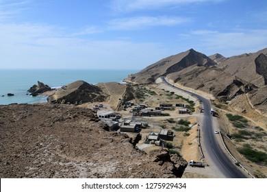 Makran Coastal Highway in Pakistan which extends along Pakistan's Arabian Sea coast from Karachi in Sindh province to Gwadar in Balochistan province