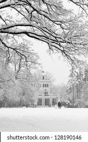 Maksimir Park in the winter. Zagreb, Croatia.
