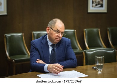 Maksym Stepanov, Ukrainian Minister of Healthcare. Kyiv, Ukraine. 10-03-2021