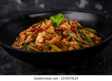 Mala Xiang Guo (Hot Pot) - china popular dish, stir fried assorted mixed vegetables, seafood, mushroom and meat in hot chilli seasoning - Image