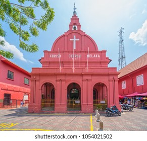 Malacca Christ Church and dutch square in Malacca Town, Malaysia