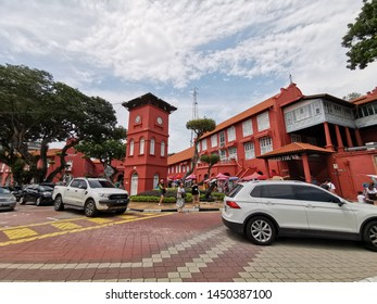 Malacca, Malaysia - 13/7/2019 : The Stadthuys (city hall) is a historical structure situated in the heart of Malacca City, the administrative capital of Malacca in a place known as the Red Square