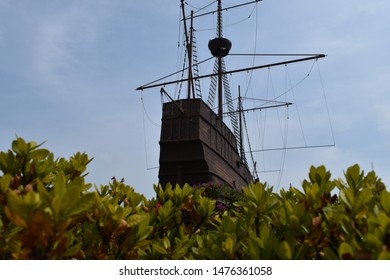 MALACCA, MALAYSIA - AUGUST 10, 2019 - Samudera Maritime Museum. Malacca City is the capital city of the Malaysian state of Malacca. It was listed as a UNESCO World Heritage Site on 7 July 2008