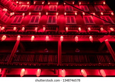 Malacca, Malaysia - February 28, 2019: A colorful house in the Malacca old city.