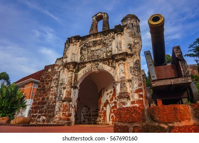 MALACCA, MALAYSIA - JAN 28, 2017: The Historical City of Malacca. Plenty of tourist attractions and is a UNESCO heritage site, every street and corner became an attraction.