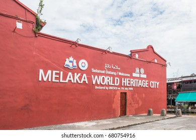 Malacca, Malaysia - July 15,2017 : Malacca town was listed as a Melaka World Heritage City by UNESCO since 7th July 2008.
