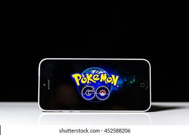 MALACCA, MALAYSIA - JULY 15TH, 2016 : Pokemon Go app, a free-to-play augmented reality mobile game developed by Niantic for iOS and Android devices.