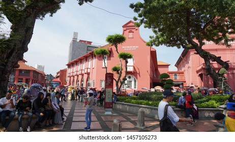 Malacca, Malaysia. July 19th, 2019: Christ Church Malacca is an 18th century Anglican church in the city of Malacca City, Malaysia. It is the oldest functioning Protestant church in Malaysia