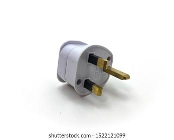 Malacca / Malaysia - July 21 2019 : Plug socket adapter on a white background
