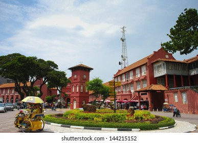 MALACCA, MALAYSIA, JUNE 25: Malacca town on June 25, 2011 in Malacca, Vietnam. This historical city centre has been listed as a UNESCO World Heritage Site