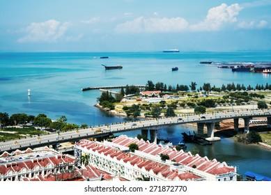 Malacca, Malaysia, top view
