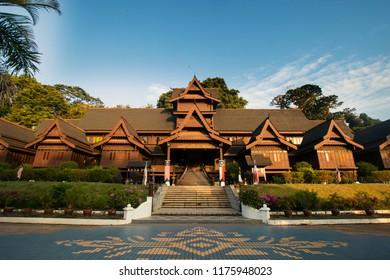 The Malacca Sultanate palace Museum ,Muzium Istana Kesultanan Melaka , replica of the 15th century palace of the Malacca Sultan