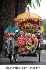 Malacca traditional trishaw.