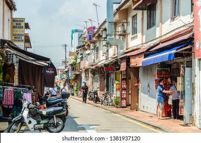 Malacca,Malaysia - April 21,2019 : Jonker Street is the centre street of Chinatown in Malacca. It was listed as a UNESCO World Heritage Site on 7 July 2008. People can seen exploring around it.
