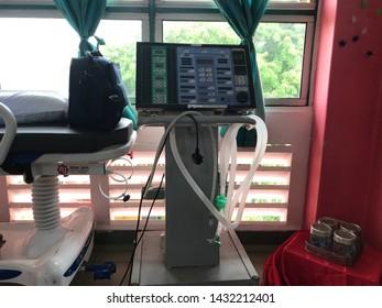Malacca,Malaysia- Circa June 2019. Ventilator for patient using in ward .