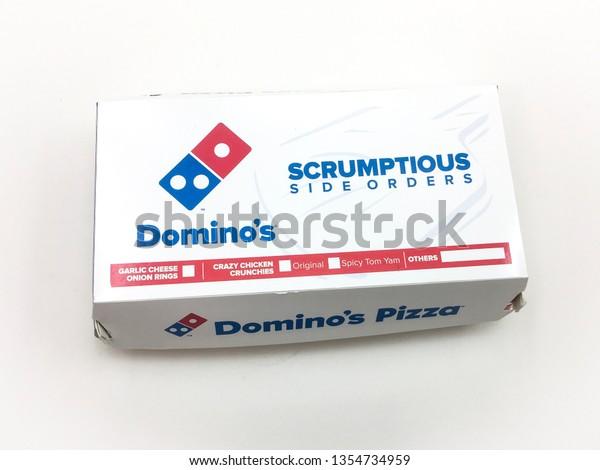 Malaccamalaysia March 31 2019 Dominos Pizza Stock Photo