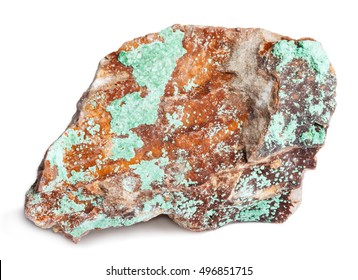 Malachite isolated on white with clipping path