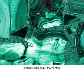 Malachite, unique background of natural stone