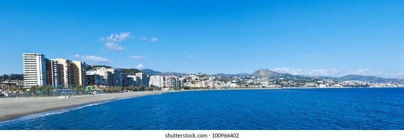 Malaga Beach and City - Spain